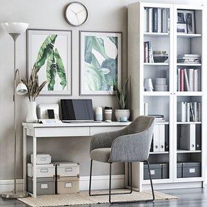3D IKEA office workplace 60