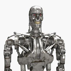 3D terminator t-800 model