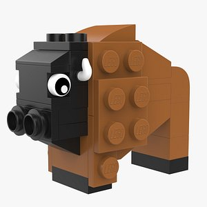 3D model Lego Buffalo Animal