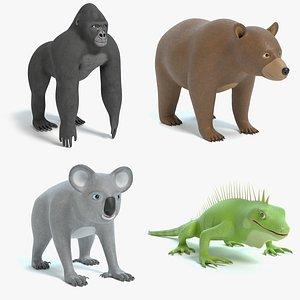 cartoon animal toon model