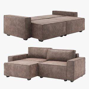 sofa corner unfolded 3D