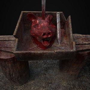pig head model