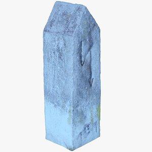 3D concrete bollard