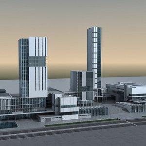 modern city block 3D model