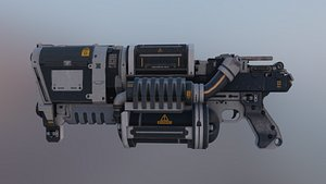 3D Futuristic Sci Fi GUN AXIS Low-poly 3D model