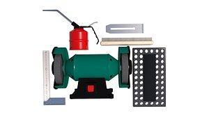 oil can.  Grinder Bench. miter model