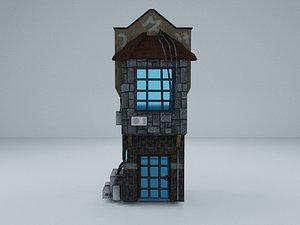 3D Cyberpunk Building 5