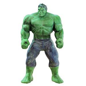 3D character hulk toy model