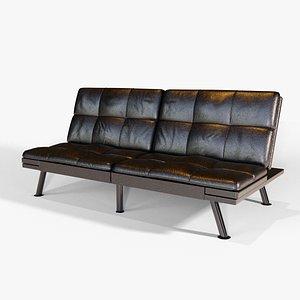 3D futon sofa bed
