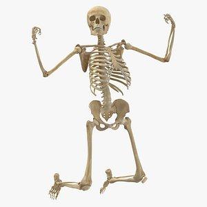 3D Real Human Female Skeleton Pose 82