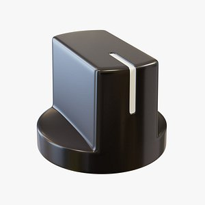Black Pointer Knob 3D model