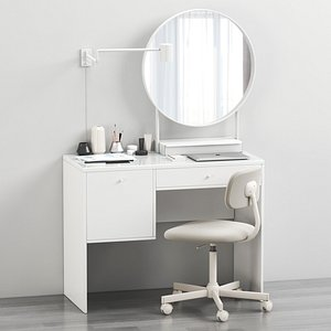 IKEA SYVDE dressing table and decor 3D model
