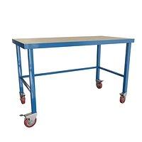 Novo metal industrial work table with wheels
