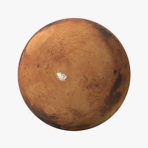 3D model planet mars