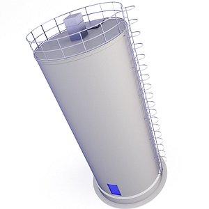 Concrete Silo 41 3D model