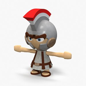 cartoon toon legionary 3D model