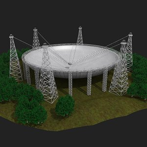 FAST tianyan chinese telescope 3D model