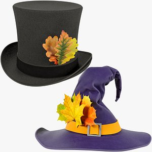 Halloween Hats Collection V1 3D model