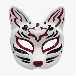 half face kitsune model
