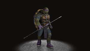 TMNT Donatello game ready 3D model