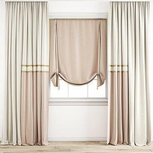 3D Curtain 203 model