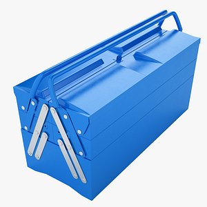 3D Garage Steel Tool Box 02 model