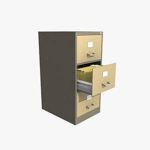 metal filing cabinet 3D model