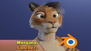Morgana Sanchez Anthro Tigress 3D model