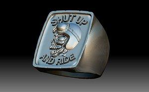 3D Biker Ride Man Ring