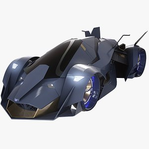 3D sci-fi car supercar model
