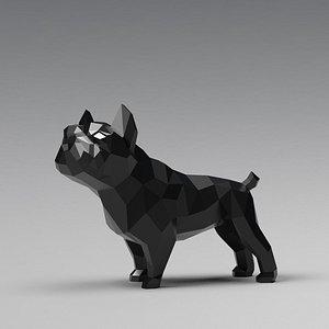 3D dog french bulldog model