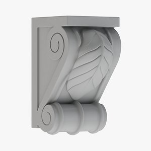 3D Scroll Corbel 08 - 3D Printable model