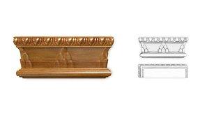 architectural basrelief decor model