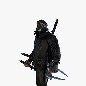 3D model Cyber samurai