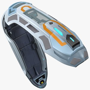 3D model fi hibernation pod sci