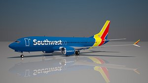 Southwest Airlines 737 max 8 model