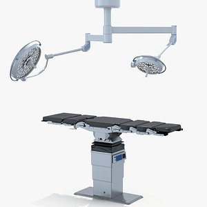 3D Operating Table and Lamp model