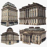 New Castle Old Buildings Pack ,4K PBR Textures