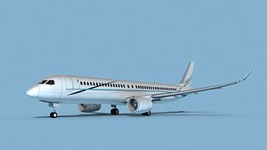Airbus A220-300 Corporate 3 3D model