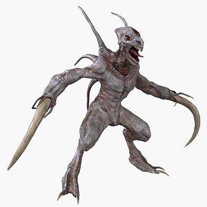 3D agile alien monster creature