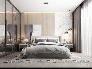 Modern Style Bedroom - 624 3D