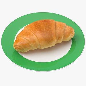 3D croissant plate