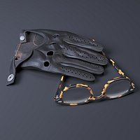 Leather Glove and Glasses by Moscot