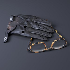 3D leather glove glasses