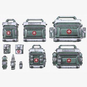 medical kits bag canister 3D model