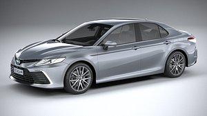 3D model Toyota Camry Hybrid SE 2021