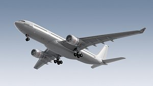 3d model airbus a330-200 generic white