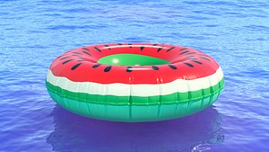 3D Watermelon Swimming Ring
