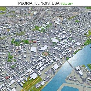 3D model Peoria Illinois USA