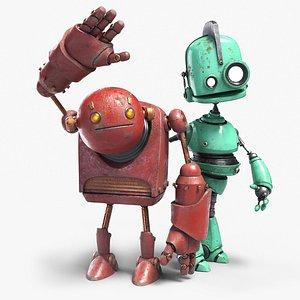 3D robot buddies model